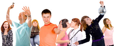 Happy youth Royalty Free Stock Images