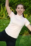 Happy Youthful Asian Person. An attractive and asian person stock photography