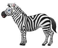 Happy zebra cartoon isolated on white background Royalty Free Stock Images