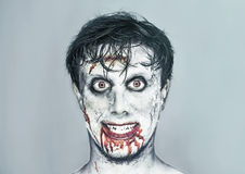 Happy zombie man Royalty Free Stock Photography
