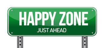 Happy zone sign Stock Image