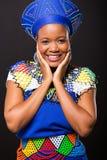 Happy zulu woman Stock Photo