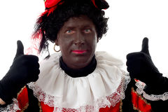 Happy Zwarte piet ( black pete) typical Dutch Royalty Free Stock Photo