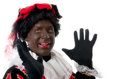 Happy Zwarte piet ( black pete) typical Dutch Stock Photos