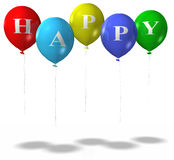HappyBalloonsISO Royalty Free Stock Photos