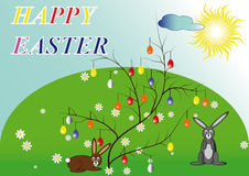 HappyEaster1 Royaltyfria Bilder