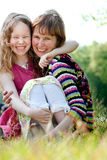 Happyness mother and daugther. Mother and daughter have a happy time together Royalty Free Stock Images