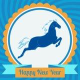 Happynew-Jahr-Symbolkarte  Stockfotografie