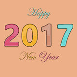 HappyNewYear-02. Happy New Year 2017 background. Happy holidays card. Creative design for your greetings card, flyers, posters, brochure, banners, calendar Royalty Free Stock Photo
