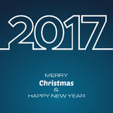 HappyNewYear-42. Happy New Year 2017 Background. New Year and Xmas Design Element Template. Vector Illustration stock illustration