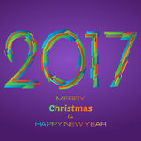 HappyNewYear-47. Happy New Year 2017 Background. New Year and Xmas Design Element Template. Vector Illustration Royalty Free Stock Images