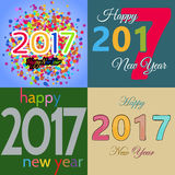 HappyNewYear-19. Set of Happy New Year background. Happy holidays card. Creative design for your greetings card, flyers, posters, brochure, banners, calendar Royalty Free Stock Photos