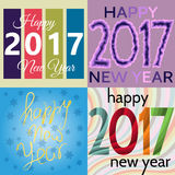 HappyNewYear-21. Set of Happy New Year background. Happy holidays card. Creative design for your greetings card, flyers, posters, brochure, banners, calendar Stock Image