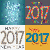 HappyNewYear-22. Set of Happy New Year background. Happy holidays card. Creative design for your greetings card, flyers, posters, brochure, banners, calendar Royalty Free Stock Photography