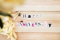 Happyy-Jahrestag lizenzfreies stockbild