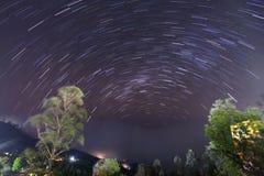 Haputale夜谷视图 库存图片