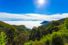 Haputale Hill Country Above Sea Clouds Valley H Royalty Free Stock Photography