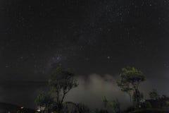Haputale night valley view. Sri Lanka Royalty Free Stock Photo