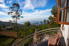 Haputale valley view. From guest house balcony, Sri Lanka Royalty Free Stock Photography