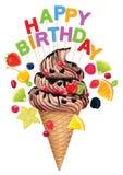 Hapy Birthday ice cream Royalty Free Stock Photos