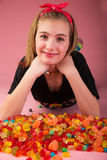 Hapy Candy Girl Stock Photo