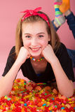 Hapy Candy Girl Stock Photography