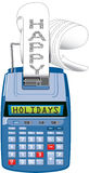Hapy Holidays adding machine Stock Photos
