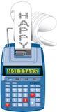 Hapy Holidays adding machine Stock Photos