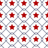 Hapy Independence Day seamless pattern vector. Memorial day. 4th of July. Set of American backgrounds. Collection of seamless patterns in traditional red, blue Vector Illustration
