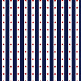 Hapy Independence Day seamless pattern vector. Memorial day. 4th of July. Set of American backgrounds. Collection of seamless patterns in traditional red, blue Stock Illustration