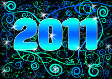 Hapy New Year 2011 Stock Image