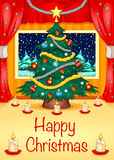 Hapy-Weihnachtskarte Lizenzfreie Stockfotos