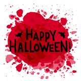 Hapyp Halloween hand drawn text stock illustration