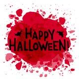 Hapyp Halloweenowa ręka rysujący tekst ilustracji