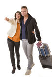 Hapyy Couple Traveling Stock Images