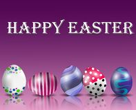 Hapyy easter background with colorful eggs Stock Images
