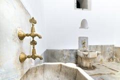 Harén del palacio de Topkapi del interior de Hamam (baño turco), Estambul, Turquía fotografía de archivo libre de regalías
