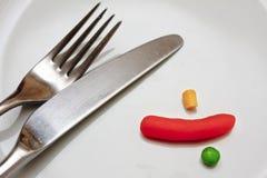 Har du ätit din veg? arkivfoton