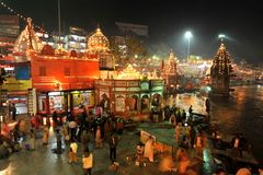 Har ki Pairi, Haridwar Royalty Free Stock Photo