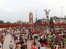 Har Ki Paudi, Haridwar, India Fotografie Stock