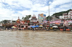 Har Ki Pauri Ghat In Haridwar. Royalty Free Stock Images
