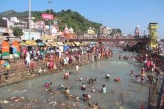 Har ki Pauri, Haridwar arkivbild