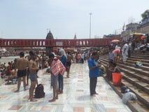 Har ki Pauri, Haridwar Stock Afbeelding