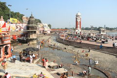 Har Ki Pauri (haridwar) Ghat. Fotografering för Bildbyråer