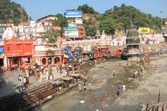 Har Ki Pauri (haridwar) Ghat. Royaltyfri Bild