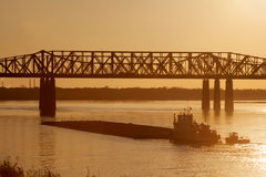 Harahan桥梁 库存图片
