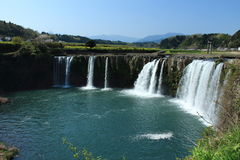 The harajiri falls in Oita prefecture,Japan. It is a Japanese waterfall, resembling a Niyagara waterfall Royalty Free Stock Photography