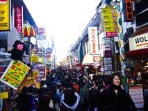 harajuku购物街道takeshita东京 免版税库存照片