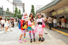 Harajuku fashion Stock Image