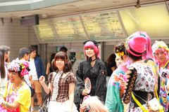 Harajuku fashion Stock Photography